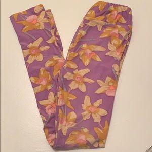 Size L/XL Floral Print LuLaRoe Leggings